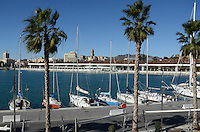 Yachts moored at new marina, Malaga, Andalusia, Spain, December, 2013, 201312203057<br /> <br /> Copyright Image from Victor Patterson, 54 Dorchester Park, Belfast, UK, BT9 6RJ<br /> <br /> Tel: +44 28 9066 1296<br /> Mob: +44 7802 353836<br /> Voicemail +44 20 8816 7153<br /> Email: victorpatterson@me.com<br /> <br /> <br /> IMPORTANT: If you wish to use this image or any other of my images please go to www.victorpatterson.com and click on the Terms & Conditions. Then contact me by email or phone with the reference number(s) of the image(s) concerned.