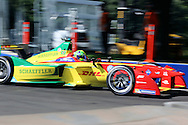 ABT Schaeffler Audi Sport driver, Lucas Di Grassi going round the corner during round 10, Formula E, Battersea Park, London, United Kingdom on 3 July 2016. Photo by Matthew Redman.