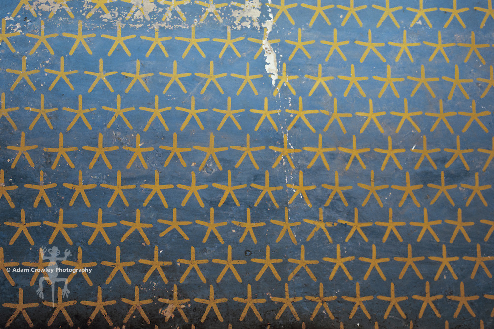 Interior ceiling, painting of stars and night sky, Temple of Hatshepsut, Luxor, Egypt