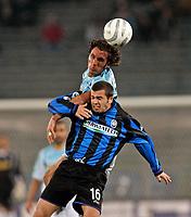 Roma, 12 / 02 / 2005 Campionato di calcio di serie A 2004 - 2005 24a Giornata -  Lazio - Atalanta - nella foto: Fabio Bazzani e Rivalta