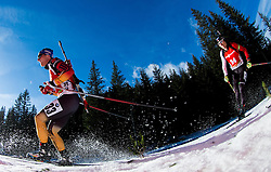 LESSER Erik (GER) competes during Men 12,5 km Pursuit at day 3 of IBU Biathlon World Cup 2014/2015 Pokljuka, on December 20, 2014 in Rudno polje, Pokljuka, Slovenia. Photo by Vid Ponikvar / Sportida