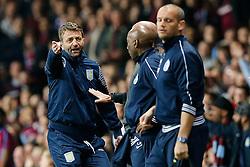 Aston Villa Manager Tim Sherwood looks frustrated - Photo mandatory by-line: Rogan Thomson/JMP - 07966 386802 - 07/04/2015 - SPORT - FOOTBALL - Birmingham, England - Villa Park - Aston Villa v Queens Park Rangers - Barclays Premier League.
