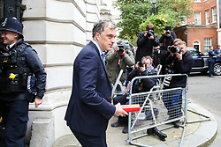 © Licensed to London News Pictures. 29/10/2019. London, UK. Secretary of State for Northern Ireland JULIAN SMITH arrives in Downing Street to attend the weekly cabinet meeting. Photo credit: Dinendra Haria/LNP