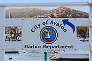 Avalon Harbor Department Sign