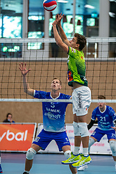 Markus Held #6 of Orion in action during the supercup final between Amysoft Lycurgus - Active Living Orion on October 04, 2020 in Van der Knaaphal, Ede
