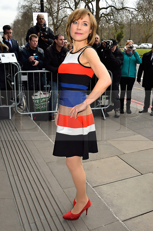 © Licensed to London News Pictures. 08/03/2016. SIAN WILLIAMS arrives for the TRIC Awards. The Television and Radio Industries Club's annual awards ceremony, honour's the best performers and programmes  of the last year .London, UK. Photo credit: Ray Tang/LNP