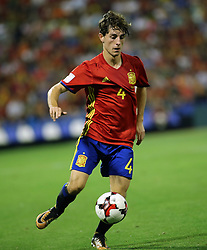 Alvaro Odriozola of Spain in action during the World Cup qualification match between Spain vs Albania in Alicante, Spain, on October 06, 2017. Photo by Giuliano Bevilacqua/ABACAPRESS.COM