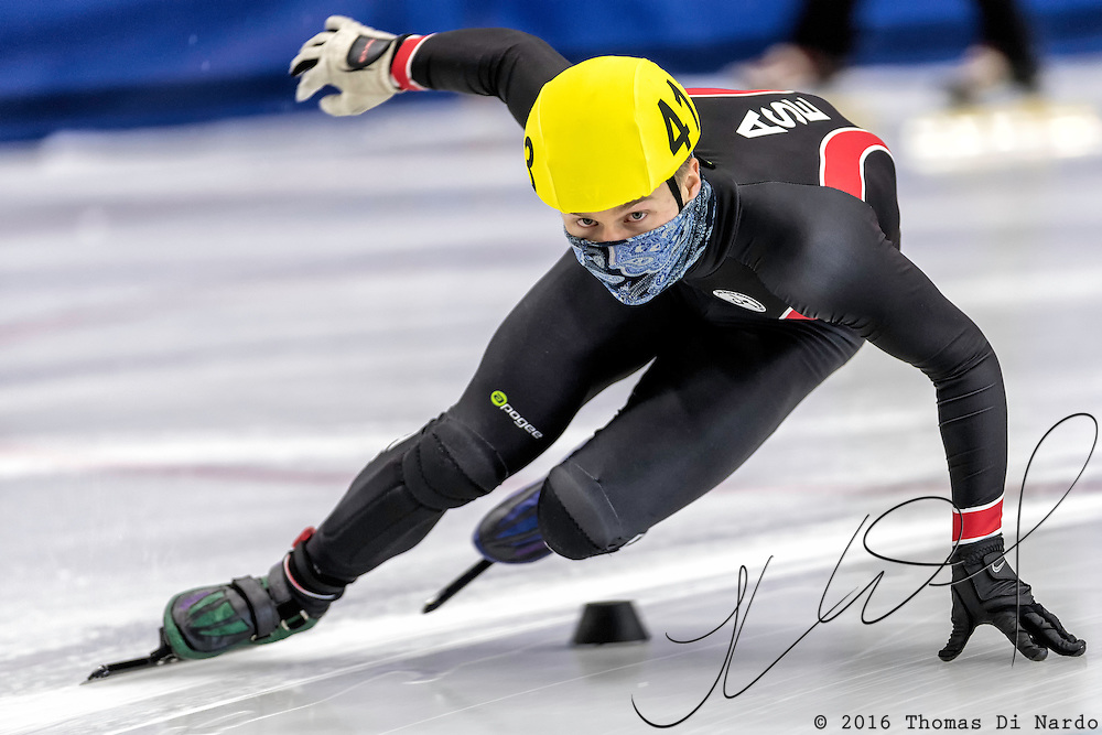December 17, 2016 - Kearns, UT - Jori Kola skates during US Speedskating Short Track Junior Nationals and Winter Challenge Short Track Speed Skating competition at the Utah Olympic Oval.