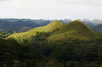 Philippines, archipel des Visayas, île de Bohol, Chocolate Hills. // Philippines, Visayas islands, Bohol island, Chocolate Hills.
