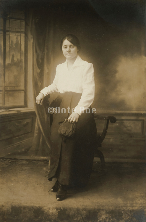 vintage studio portrait of young woman