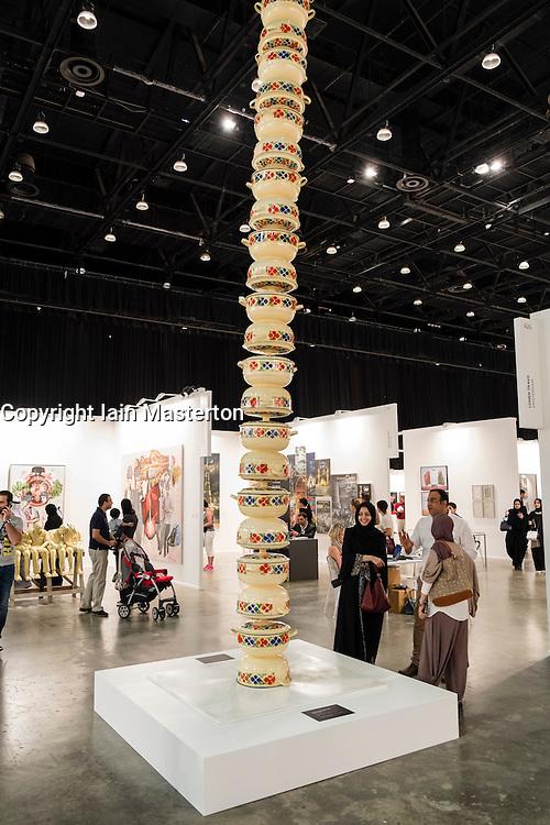 Art Dubai 2014 the leading art fair in the Middle East held at Madinat Jumeirah in Dubai United Arab Emiraes