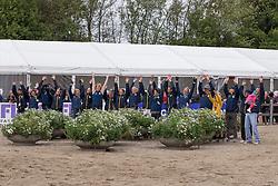 Team Sweden <br /> Andersen Frida (SWE), Lindback Niklas, Algottson Ostholt Sara (SWE), Svennerstal Ludwig (SWE)<br /> Jumping<br /> HSBC FEI European Championships Eventing - Malmö 2013<br /> © Dirk Caremans