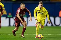 Villarreal CF's Samu Castillejo (r) and FC Barcelona's Jordi Alba during La Liga match. December 10,2017. (ALTERPHOTOS/Acero)