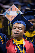 Michael McQueen during his graduation from NC A&T's commencement on Saturday, May 14, 2016 (Tigermoth Creative/Chris English)
