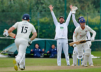 Cricket - 2021 LV=County Championship - Final Round - Day three of four - Lancashire vs Hampshire - Aigburth, Liverpool - Thursday 23rd September 2021<br /> <br /> Hampshire skipper James Vinceappeals for lbw against Dane Vilas of Lancashire<br /> <br /> CreditCOLORSPORT