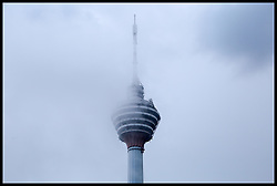September 2, 2017 - Kuala Lumpur, Kuala Lumpur, United Kingdom - Image ©Licensed to i-Images Picture Agency. 02/09/2017. Kuala Lumpur, Malaysia. Rain in Kuala Lumpur. Low clouds cover the top of The Kuala Lumpur Tower (KL Tower).  Picture by Dinendra Haria / i-Images (Credit Image: © Dinendra Haria/i-Images via ZUMA Press)