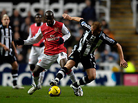 Photo: Jed Wee/Sportsbeat Images.<br /> Newcastle United v Arsenal. The FA Barclays Premiership. 05/12/2007.<br /> <br /> Newcastle's Nicky Butt (R) with Arsenal's Lassana Diarra.
