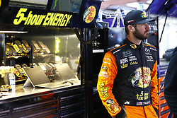 April 27, 2018 - Talladega, Alabama, United States of America - Martin Truex, Jr (78) hangs out in the garage during practice for the GEICO 500 at Talladega Superspeedway in Talladega, Alabama. (Credit Image: © Chris Owens Asp Inc/ASP via ZUMA Wire)