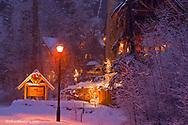 Hidden Moose Lodge in winter in Whitefish, Montana, USA