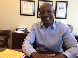 October 2, 2018 - USA - Chris Richardson of Atlanta left his dream job as a U.S. diplomat earlier this year to become an immigration attorney. (Credit Image: © Gracie Bonds Staple/Atlanta Journal-Constitution/TNS via ZUMA Wire)
