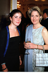Left to right, LADY ROSE ALEXANDER and her mother<br />  COUNTESS ALEXANDER OF TUNIS,  at a party in<br />  London on 31st May 2000.OES 22<br /> © Desmond O'Neill Features:- 020 8971 9600<br />    10 Victoria Mews, London.  SW18 3PY <br /> www.donfeatures.com   photos@donfeatures.com<br /> MINIMUM REPRODUCTION FEE AS AGREED.<br /> PHOTOGRAPH BY DOMINIC O'NEILL