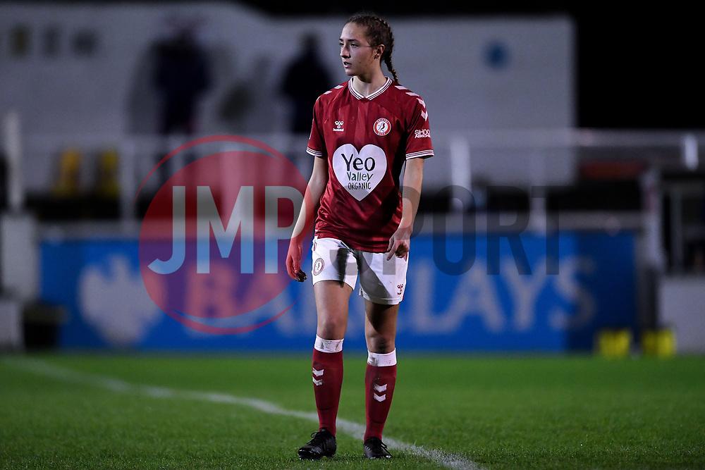 Naomi Layzell of Bristol City Women - Mandatory by-line: Ryan Hiscott/JMP - 14/11/2020 - FOOTBALL - Twerton Park - Bath, England - Bristol City Women v Tottenham Hotspur Women - Barclays FA Women's Super League