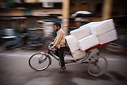 Bicycle Rickshaw Delivering Parcels - Chandni Chowk, Old Delhi, India