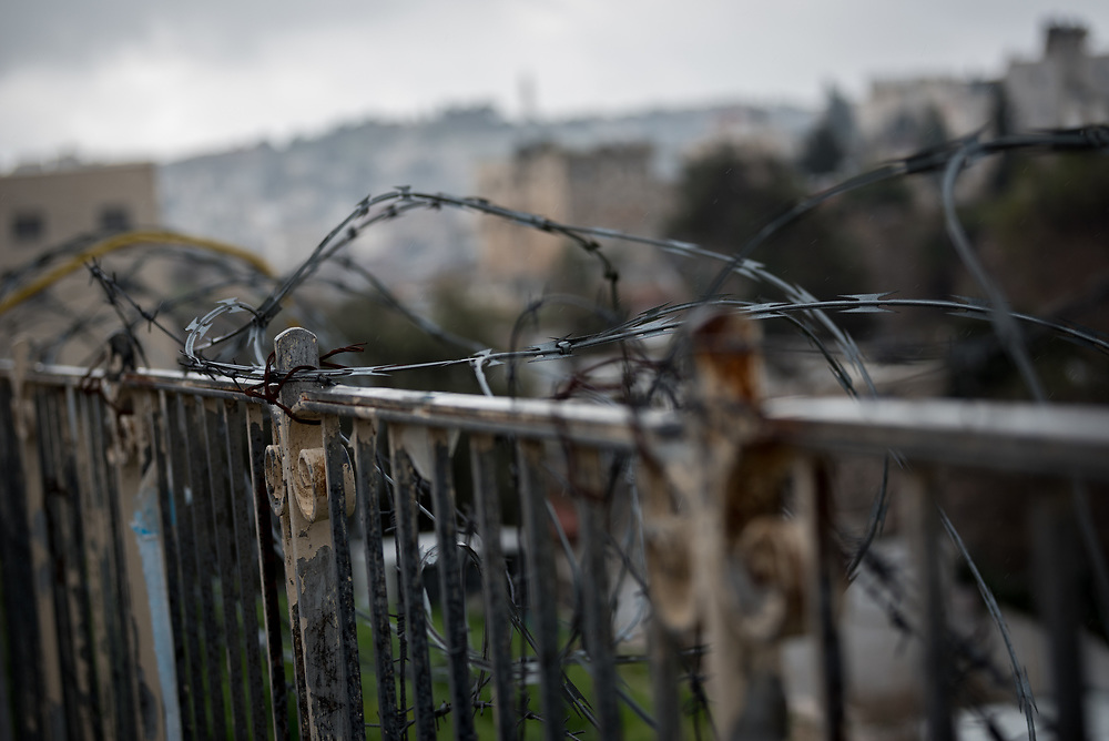 29 February 2020, Jerusalem: View in the neighbourhood of Sheikh Jarrah in East Jerusalem. While a predominantly Palestinian neighbourhood, Sheikh Jarrah is under constant pressure from Israeli settler movements looking to push Palestinian families out and take over the area.