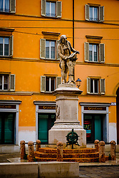 Statue of Galvani is the Piazza named after him, Bologna, Italy<br /> <br /> (c) Andrew Wilson | Edinburgh Elite media