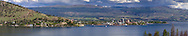 View of downtown Kelowna and Okanagan Lake from Bear Creek Provincial Park near Kelowna, British Columbia, Canada