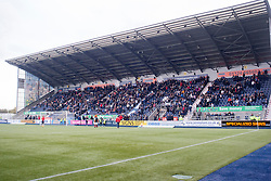 South stand. Falkirk v Raith Rovers. Scottish Championship game played 22/10/2016 at The Falkirk Stadium.