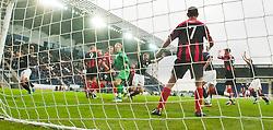 Falkirk's Darren Dods cele scoring their goal..Falkirk 1 v 0 Queen of the South, 15/10/2011..Pic © Michael Schofield.