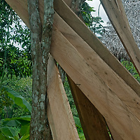 Hand-planed boards will be used to make a new hut in San Juan de Yanayacu village in Peru's Amazon Jungle.