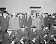 0601-A05 North Precinct  Police Station. Group portrait of police force. Early 1960s. St. Johns, Portland, Oregon.