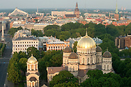 Early morning light on the Orthodox Cathedral (Nativity of Christ Cathedral), Riga, Latvia © Rudolf Abraham