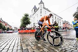 September 20, 2017 - Bergen, NORWAY - 170920 Tom Dumoulin of The Netherlands starts the climb towards Mt. Fløyen during the Men Elite Individual Time Trial on September 20, 2017 in Bergen..Photo: Jon Olav Nesvold / BILDBYRÃ…N / kod JE / 160023 (Credit Image: © Jon Olav Nesvold/Bildbyran via ZUMA Wire)