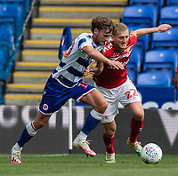 Reading's John Swift (left) battles for possession with Middlesbrough's George Saville (right) <br /> <br /> Photographer David Horton/CameraSport<br /> <br /> The EFL Sky Bet Championship - Reading v Middlesbrough - Tuesday July 14th 2020 - Madejski Stadium - Reading<br /> <br /> World Copyright © 2020 CameraSport. All rights reserved. 43 Linden Ave. Countesthorpe. Leicester. England. LE8 5PG - Tel: +44 (0) 116 277 4147 - admin@camerasport.com - www.camerasport.com