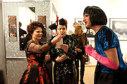 LULU GUINNESS; PALOMA FAITH; RUSSELLA, Lulu Guinness And Rob Ryan Fan Bag - Launch Party. Air Gallery. London. 10 November 2010.  -DO NOT ARCHIVE-© Copyright Photograph by Dafydd Jones. 248 Clapham Rd. London SW9 0PZ. Tel 0207 820 0771. www.dafjones.com.