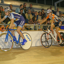 ALKMAAR (NED) wielrennen<br /> NK Baanwielrennen ; vrouwen; ; klassement, Vera Koedooder, Adrie Visser
