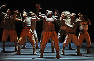 1st TME FREE  USE PICS - STRICTLY NO SALES, SYNDICATION OR ARCHIVE<br /> <br /> Edinburgh International Festival 2017<br /> <br /> Blak Whyte Gray<br /> 16 - 19 August 2017<br /> The Lyceum<br /> <br /> Blak Whyte Gray is a bold and brilliant dance creation combining tightly drilled choreography and a ground-shaking electronic score.  A world in flux; a need for change. The time is right to ask questions, to break free from a system that no longer works – and emerge to a new awakening.  Three dancers straightjacketed in a cage of light judder as dance energy flows through them. A battalion of dancers, their bodies synchronised and syncopated, find flow in elegant, ever-changing formations amid their brute force. A lone figure – staggering, barely alive – is returned to life and freedom by his mysterious comrades.<br /> <br />  Neil Hanna Photography<br /> www.neilhannaphotography.co.uk<br /> 07702 246823