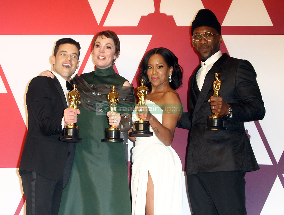 The 91st Annual Academy Awards Press Room at The Dolby Theatre in Hollywood, California on 2/24/19. 24 Feb 2019 Pictured: Rami Malek, Olivia Colman, Regina King, Mahershala Ali. Photo credit: River / MEGA TheMegaAgency.com +1 888 505 6342