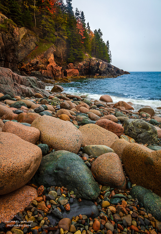 """TO PURCHASE: Simply click """"Add to Cart"""" to see prints and products available.<br /> <br /> Acadia National Park is an American jewel located on the stunning coast of Maine.<br /> <br /> The first national park located east of the Mississippi River it boasts views unlike anything on the eastern seaboard.<br /> <br /> Hunters Beach is a hidden, off the beaten path jewel of find on Mt. Desert Island.  Located between Hunters Head and Inghram Point the small path leading to it is often missed.<br /> <br /> When you do find it you will be with many fine artists and photographers who would not miss an opportunity to capture this slice of heaven.<br /> <br /> Camera Data:<br /> f/13, 1/10sec, 24mm, ISO100<br /> RAW, Manual Mode, Evaluative Metering<br /> Tripod, Bare Glass, Lr<br /> Canon 5ds, Canon EF 24-105mm<br /> <br /> High Resolution Image"""