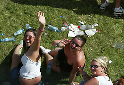 Fans pictured from the Big Wheel, on Sunday 10th July, 2005 at the two-day T in the Park festival, at Balado, Kinross-shire, Scotland..
