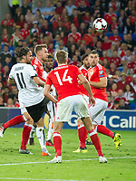 Football - 2017 / 2018 _Wales v Austria_FIFA World Cup Qualifier 2018<br /> <br /> Aaron Ramsey of Wales attacks in the box --- at Cardiff City Stadium.<br /> <br /> COLORSPORT/WINSTON BYNORTH