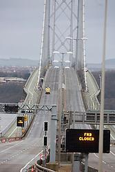 Pics of the closed Forth Road bridge.