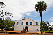 Chapada dos Guimaraes_MT, Brasil...Igreja de Santana do Sacramento na Chapada dos Guimaraes no estado do Mato Grosso...Santana do Sacramento church in Chapada dos Guimaraes in the state of Mato Grosso...Foto: JOAO MARCOS ROSA  /NITRO..
