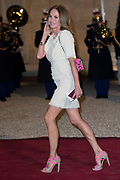 Staatsbezoek aan Frankrijk dag 1 - Staatsbanket op het Palais de l'Elysée<br /> <br /> State Visit to France Day 1 - State Banquet at the Palais de l'Elysée<br /> <br /> Op de foto / On the photo:  Rosalie van Breemen