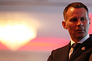 Ryan Giggs is pictured  at the Press conference announcing Ryan Giggs as the new manager of the Wales football team at Hensol Castle in Hensol, near Cardiff , South Wales on Monday 15th January 2018 .  pic by pic by Andrew Orchard/Andrew Orchard sports photography