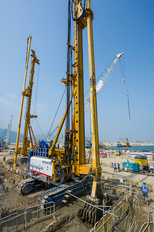 VSL construction site on 21 February 2016 in Hong Kong, China. Photo by Lucas Schifres / Illume visuals