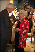 HUGO VICKERS; LADY AIRLIE, Nicky Haslam hosts a party to launch a book by  Maureen Footer 'George Stacey and the Creation of American Chic' . With a foreword by Mario Buatta. Kensington. London. 11 June 2014